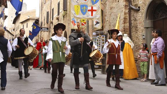 Φεστιβάλ στο San Gimignano, Ιταλία