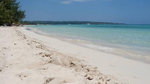 Η παραλία στο Negril της Τζαμάικα