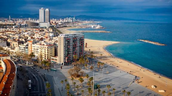 Η παραλία της Βαρκελώνης